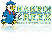 Illustraton of Student Eagle for Harris Creek Elementary School