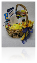 Product shot of AANMA gift basket for promotional use