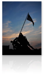 Photo of the Iwo Jima Memorial